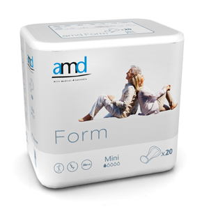 AMD Form COTTON FEEL Mini White Pad (pk 20 x 4)