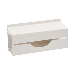 Dispenser for Poly Aprons On a Roll - White plastic coated