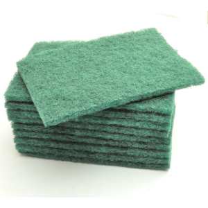 Green Medium Duty Scouring Pads 6x9in (pk 10)