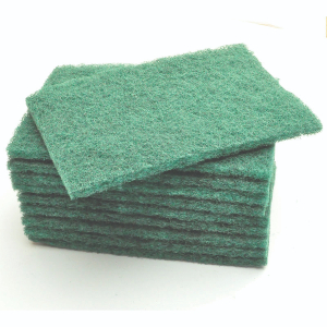 Green Heavy Duty Scouring Pads 6x9in (pk 10)