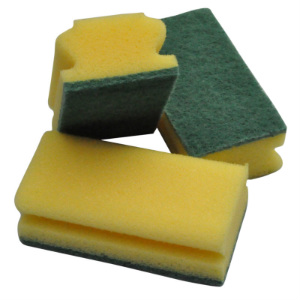 Abrasive Sponge Scouring Pad - Assorted Colours (pk 10)