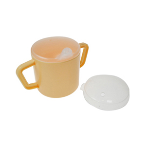 Two Handled Cup with 2 Lids 9oz
