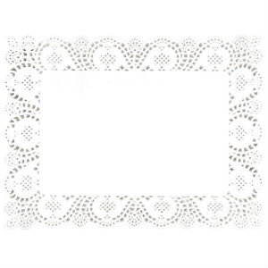 Rectangular Paper Doilies - 12x15.75in (pk 250) [CE994]