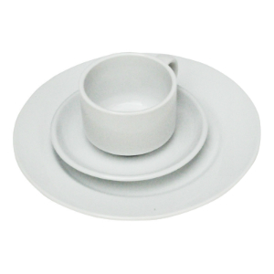 Bayleaf 5in Saucer White (pk 24) [CC202] (fits cup CC200)