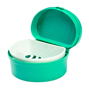 Polyprop Denture Pot with Lid & Strainer