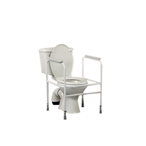 Floor Fixing Adjustable Height White Toilet Surround