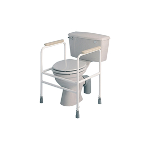 Freestanding Adjustable Height White Toilet Surround (503A)