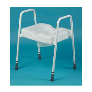 Adjustable Height Frame with Raised Toilet Seat (165)