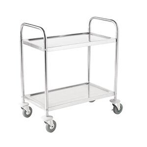 2 Tier S/Steel Clearing Trolley - Large [F998]