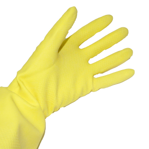 Yellow Rubber Gloves (Household) - Large (12 pairs)