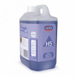 Jeyes H5 Acidic Washroom 2x2L Cleaner/Disinfectant - Con