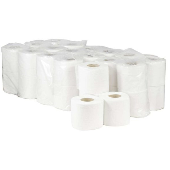 Premier 2 Ply Quilted Toilet Roll - White (pk 40)