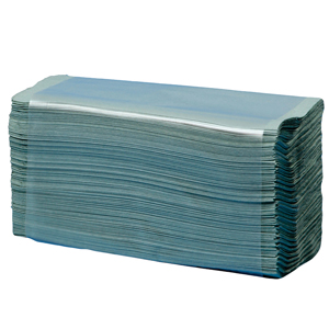 1 Ply C Fold Hand Towels - Blue - Pk 2880 (HE128BLN)